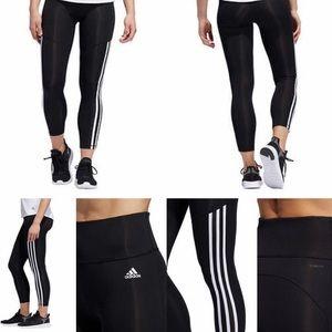 NWT - Adidas White 3-Stripes 7/8 Tight Leggings